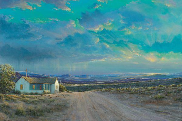 Karoo Dusk painting