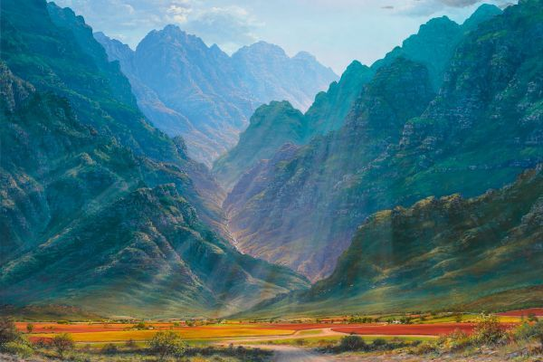 Autumn patchwork, Hex River Valley painting