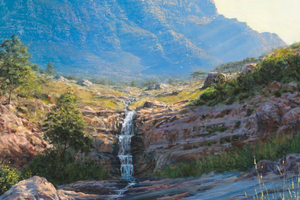 Deer Park, Table Mountain painting