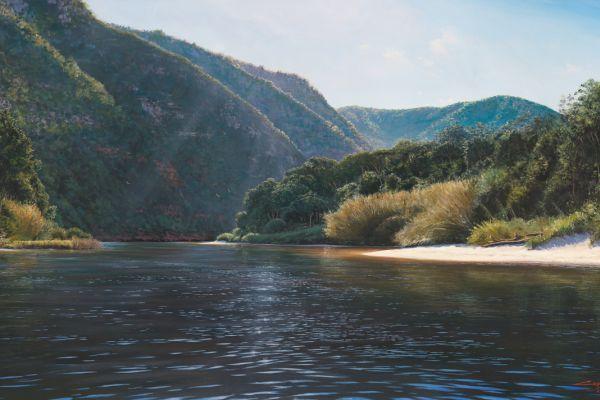 Keurbooms river, Plettenberg Bay II painting