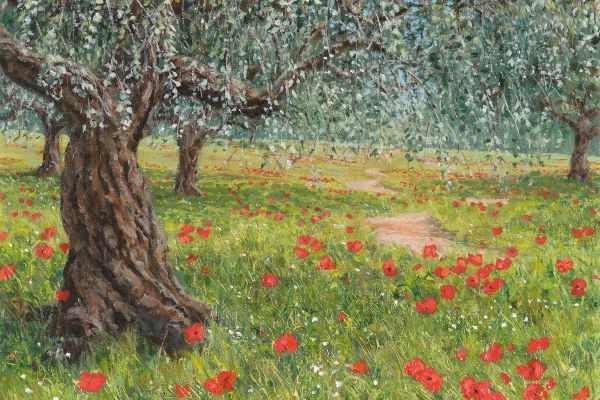 The Olive Groves painting