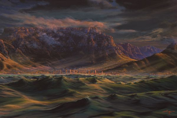 Cape of Storms, Table Bay painting