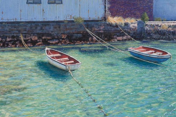 Wharfside, Simonstown painting