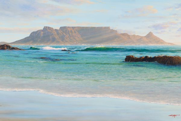 The Last Rays, Table Mountain painting