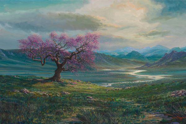 Tree Of Life, Pink Blossoms painting