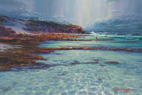 A Break In The Weather, Arniston painting