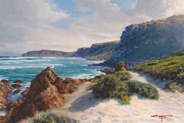 Robberg Afternoon Stroll, Plettenberg Bay painting