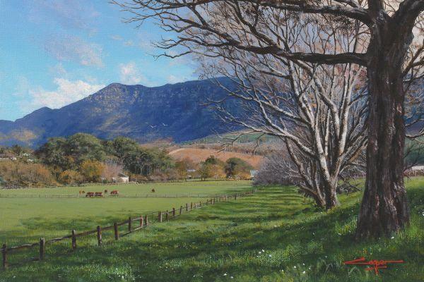 Cows grazing, Buitenverwachting painting