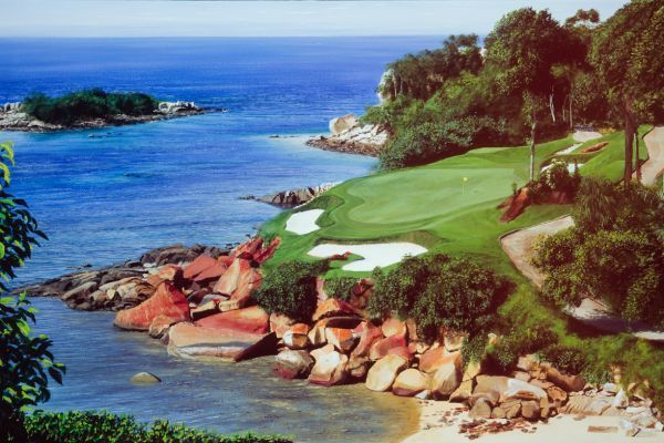 Gary Player Golf Course, Asia painting
