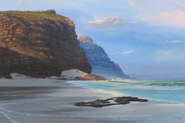 Diaz Beach, Cape Point painting