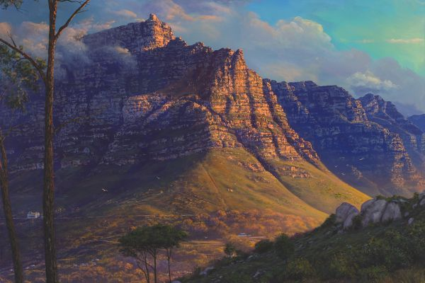 Table Mountain painting