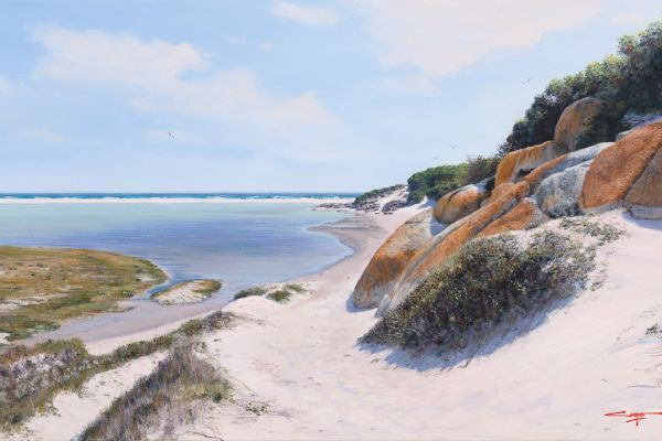Down to the Beach, Noordhoek painting